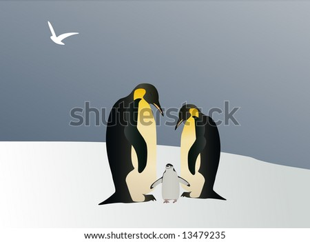 Fairy tale of Penguin - stock photo