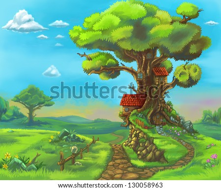 Cartoon Forest Stock Images RoyaltyFree   Shutterstock