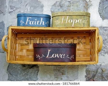 Faith, Hope, Love - stock photo