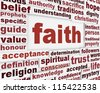Faith message background. Religion poster conceptual design - stock photo