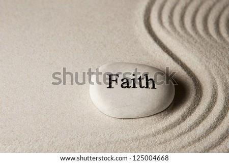 Faith stone - stock photo