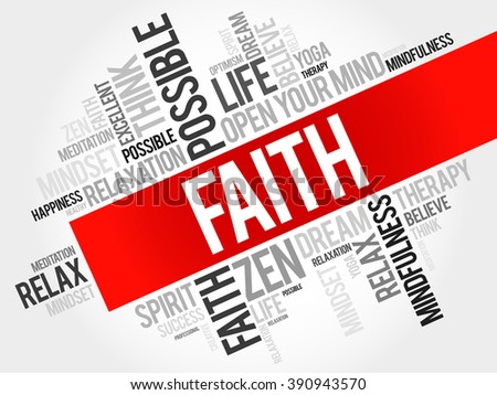 Faith word cloud concept - stock photo