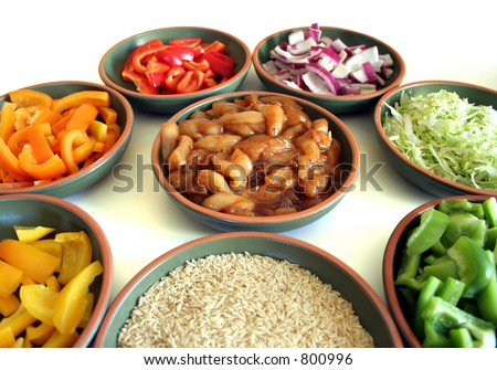 Fajitas in the making. - stock photo