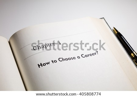 fake book. how to choose a career?   - stock photo