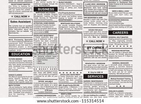 Newspaper Ad Template Typesetting Newspaper Vector Templates
