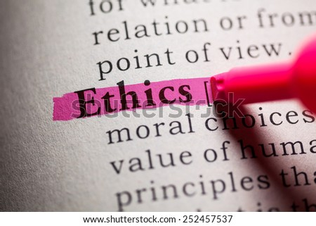 Fake Dictionary, definition of the word Ethics.