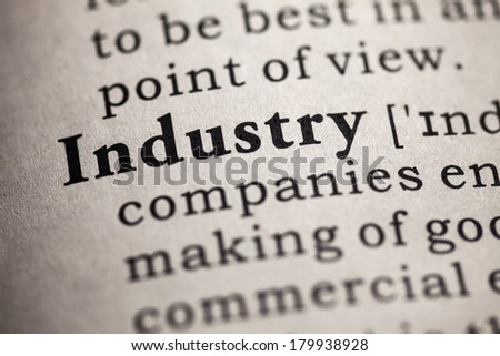 Fake Dictionary, definition of the word industry.