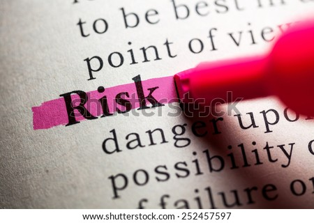 Fake Dictionary, definition of the word risk.