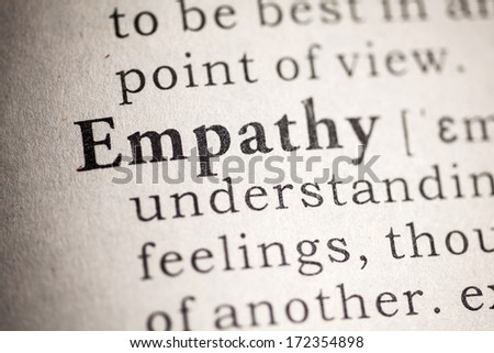 Fake Dictionary, Dictionary definition of empathy. - stock photo