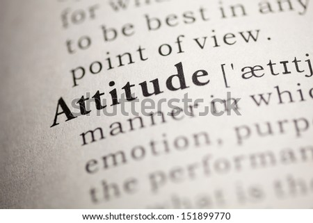 Fake Dictionary, Dictionary definition of the word Attitude.