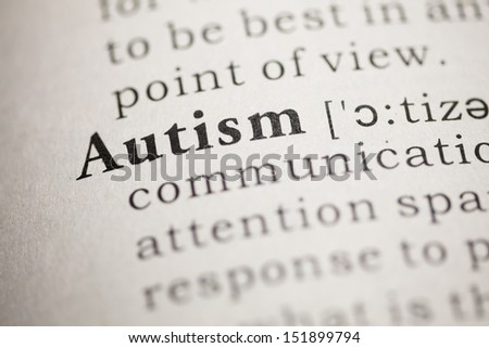 Fake Dictionary, Dictionary definition of the word autism. - stock photo