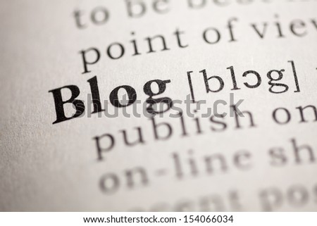 Fake Dictionary, Dictionary definition of the word Blog.