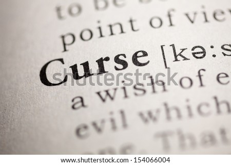 Fake Dictionary, Dictionary definition of the word Curse.