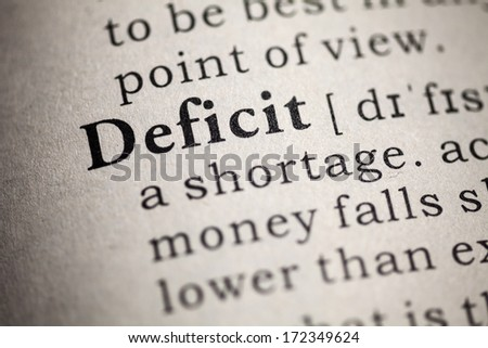 Fake Dictionary, Dictionary definition of the word deficit.