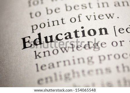 Fake Dictionary, Dictionary definition of the word Education.