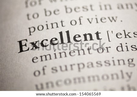 Perfect Fake Dictionary, Dictionary Definition Of The Word Excellent.