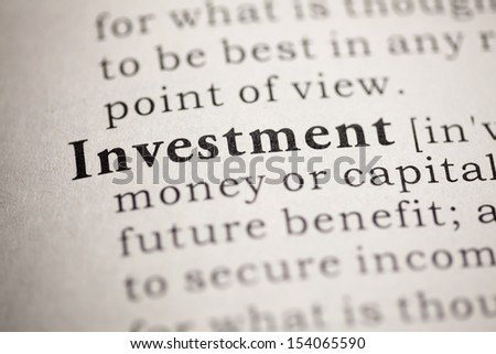 Fake Dictionary, Dictionary definition of the word Investment.