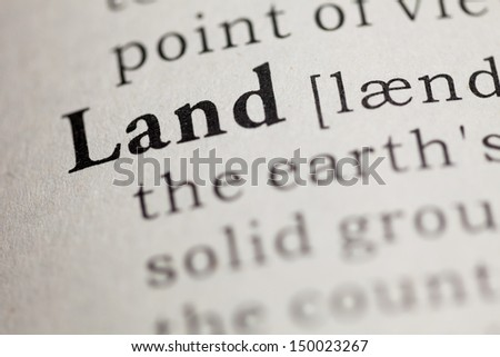 Fake Dictionary, Dictionary definition of the word Land.