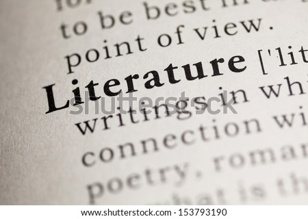 Fake Dictionary, Dictionary definition of the word Literature.