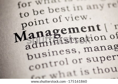 Fake Dictionary, Dictionary definition of the word management.