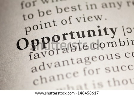 Fake Dictionary, Dictionary definition of the word Opportunity.
