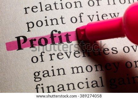 Fake Dictionary, Dictionary definition of the word profit.