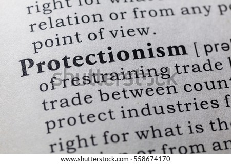 Fake Dictionary, Dictionary definition of the word Protectionism. including key descriptive words.
