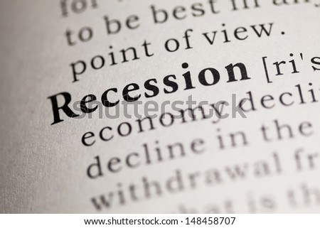 Fake Dictionary, Dictionary definition of the word Recession.