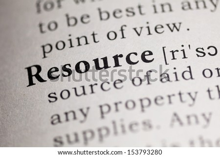 Fake Dictionary, Dictionary definition of the word Resource.