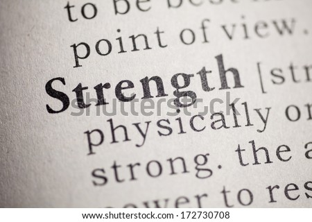 Fake Dictionary, Dictionary definition of the word strength.