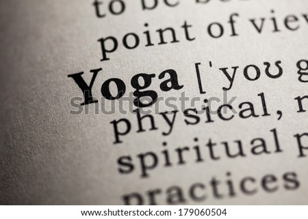 Fake Dictionary, Dictionary definition of the word yoga.