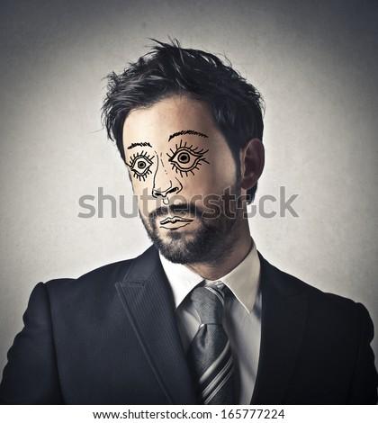 Fake Face - stock photo