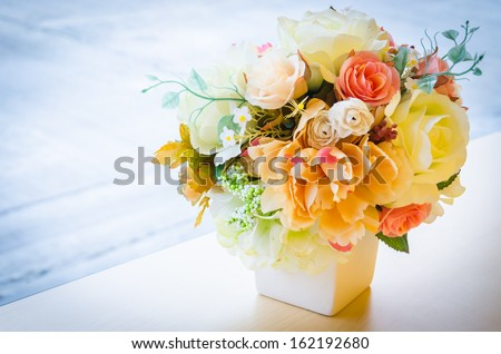 Fake flower - stock photo