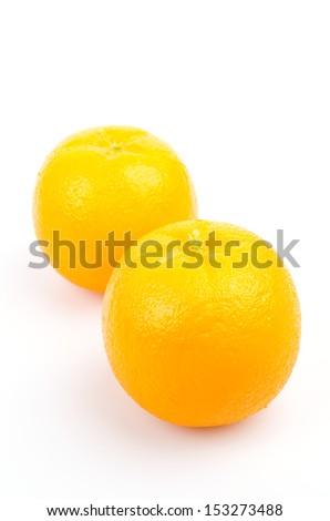 Fake orange on white background - stock photo