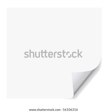 fake paper, vector format with realistic corner curl