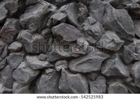 fake rocks black wall - Fake Rocks