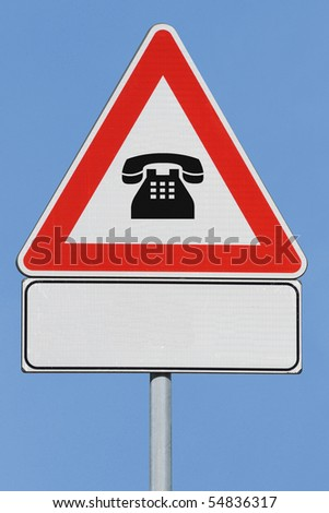 Fake sign with phone