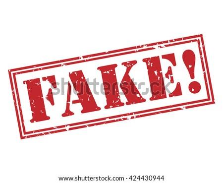 fake! stamp - stock photo