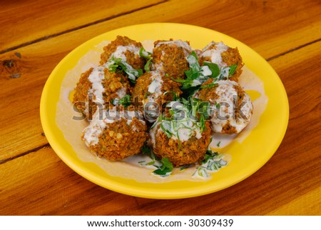 Falafel on a plate - stock photo