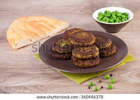 Falafel with pita bread - stock photo
