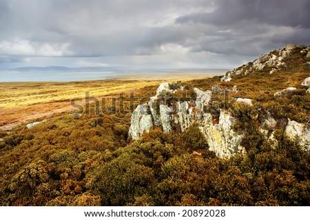 Falkland Islands Landscape - stock photo