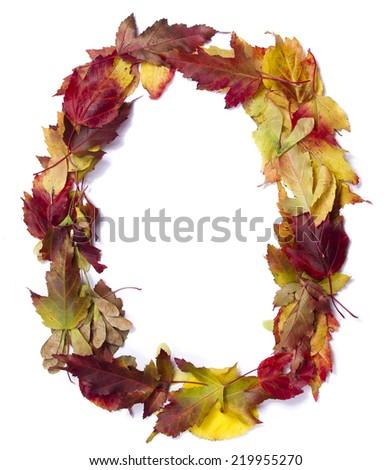 Fall alphabet letter O - stock photo