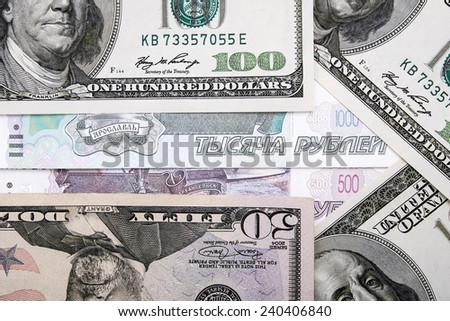 Fall and rise money rate - stock photo
