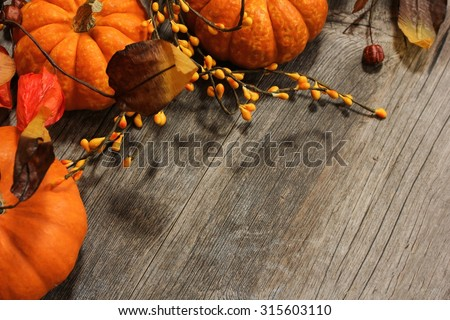 Fall background, selective focus