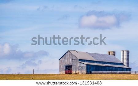 Fall Barn Scene - stock photo