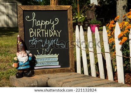Fall Birthday Party - stock photo
