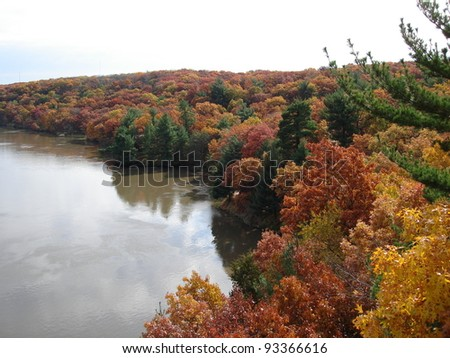 Fall Colors at Starved Rock - stock photo