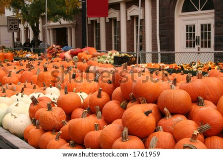 fall farmers market - stock photo