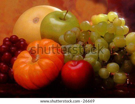 Fall Fruit and vegetables - stock photo