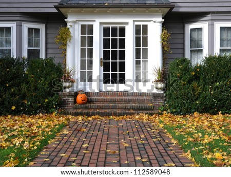 Fall in New England, Boston, Massachusetts, USA - stock photo